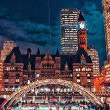 Toronto d' inverno-natale Piazza Nathan Phillis Sq@@evologist