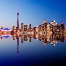 Toronto d'inverno panorama