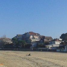 spiaggia d'autunno ad Arcachon