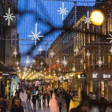 strade illuminate Natale Oslo