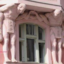 palazzo con Atlanti Praga
