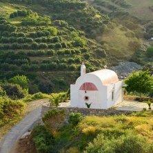 chiesetta in mezzo all'uliveto da olio Creta