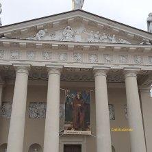 facciata della cattedrale Vilnius