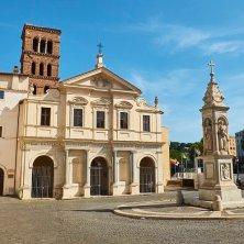 Basilica San Bartolomeo alle Isola, Tiberina island. Rome. Lazio, Italy.