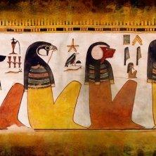 Belzoni Egitto DrawLight_Proiezione mappata delle divinità egizie