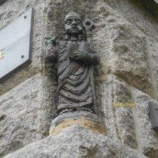 statua di Saint Malo monaco irlandese