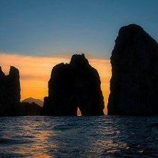 tramonto sui Faraglioni