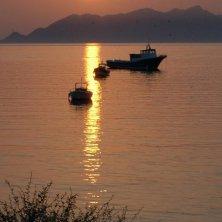 Favignana tramonto sul mare