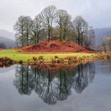 alberi d'autunno sul Lake District