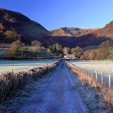 strada d'autunno Lake District