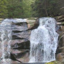 salto della cascata nella Valle di Cristallo