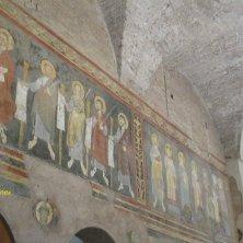 affresco resti della basilica medievale San Paolo