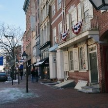 Philadelphia innevata d'inverno