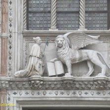doge e Venezia leone alato portale Palazzo Ducale