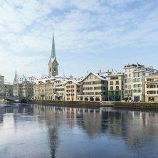 panorama invernale di Zurigo