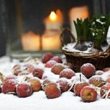 mele innevate Natale in Danimarca