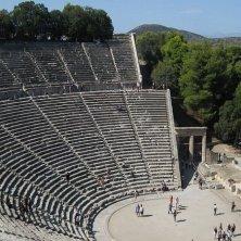 sul palco teatro Epidauro