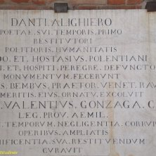 in memoria Dante a Ravenna