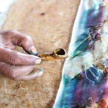 strumento per colare la cera per batik