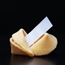 biscotto della fortuna e biglietto