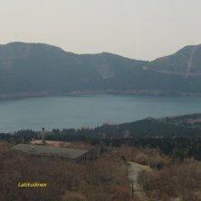 veduta lago Hakone Fuji