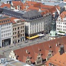 Leipzig piazza dall'alto