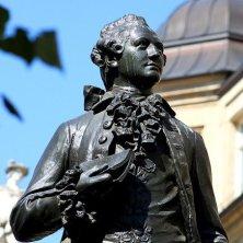 statua Goethe Lipsia