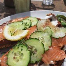 waffle al salmone benessere a Les 2 Alpes