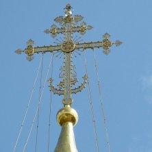 croce dorata sulle cupole Sergiev Posad