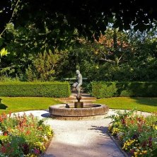 nel giardino del palazzo Sans Souci