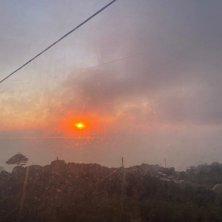 tramonto e panorama dalla funivia