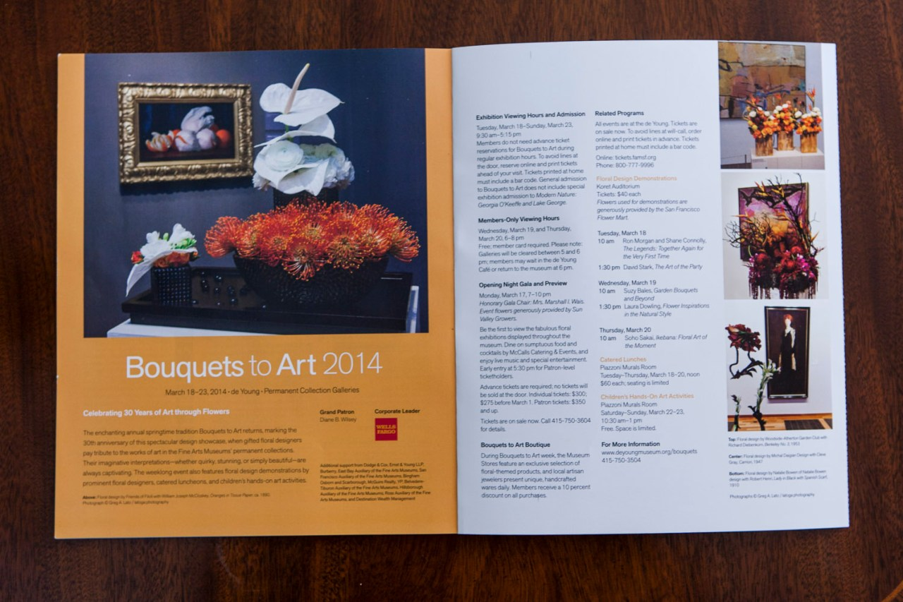 Bouquets to Art 2014 Advertisements featuring latoga photography Photos