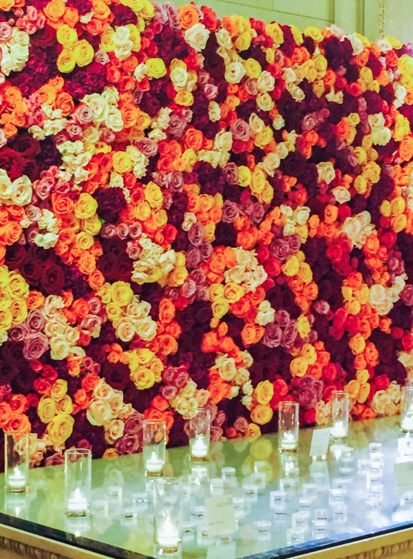 Flower Wall Installation at Bently Reserve (photo courtesy Michael Daigian Design)