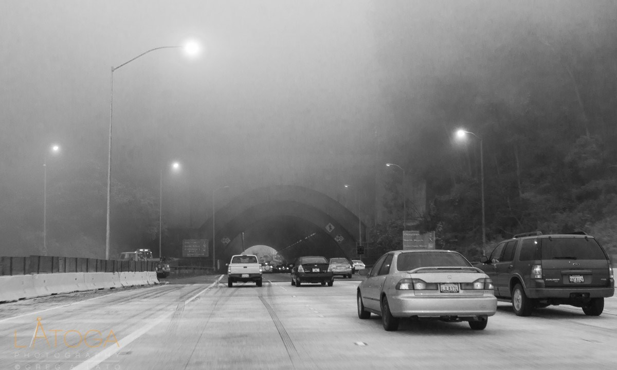 Foggy Commute on Bay Bay Bridge