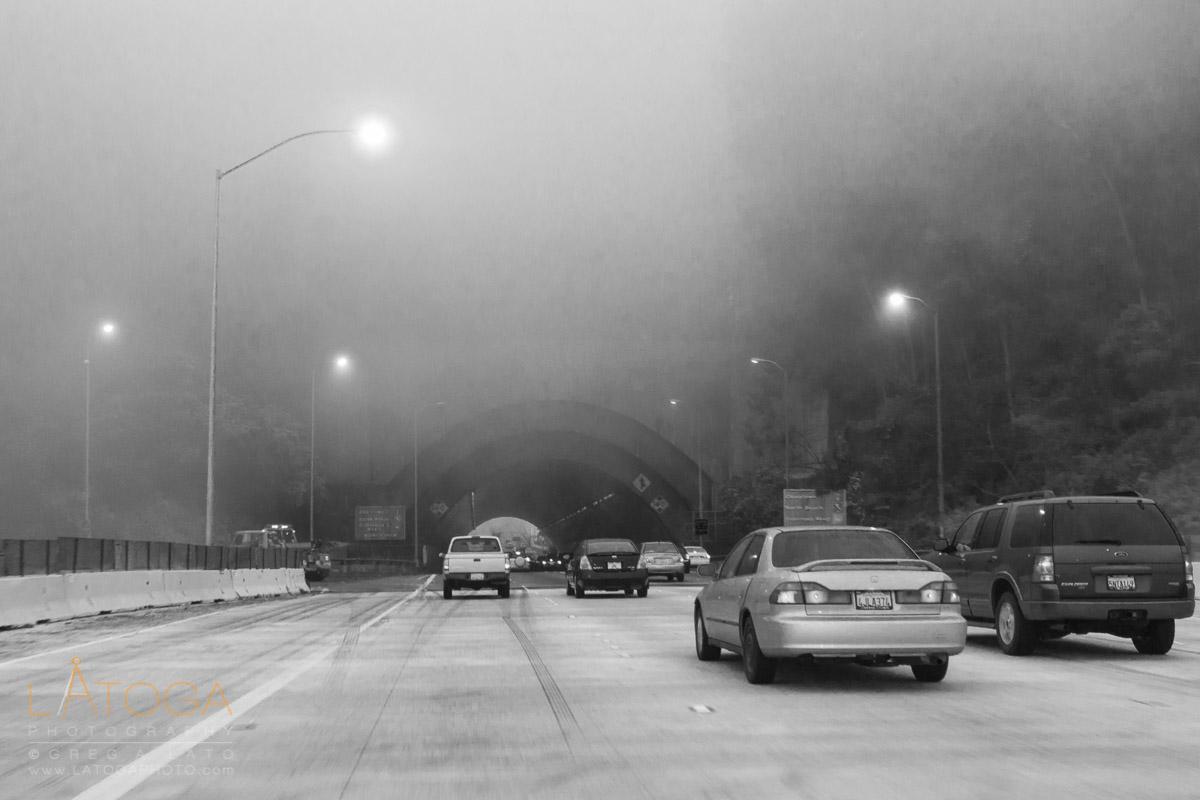 Foggy Commute on Bay Bay Bridge
