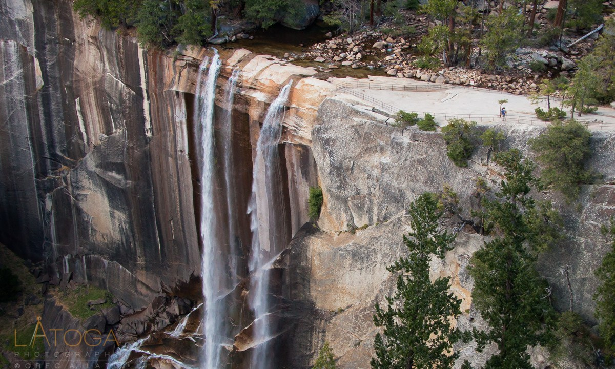 Yosemite's Vernal Fall with Autumn Water Flow