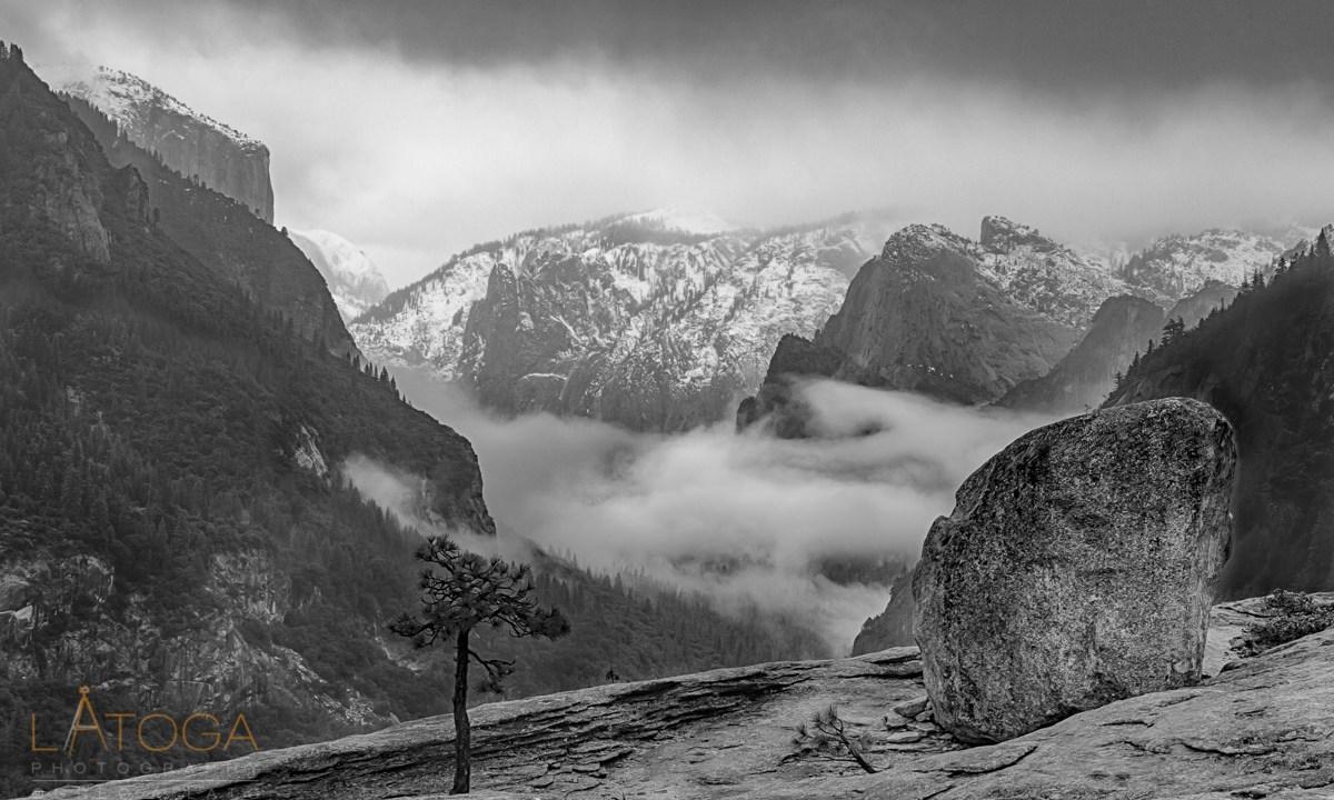 Fog Filled Yosemite Valley