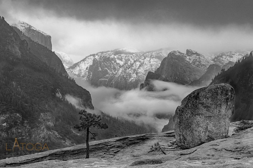 Fog Filled Yosemite Valley