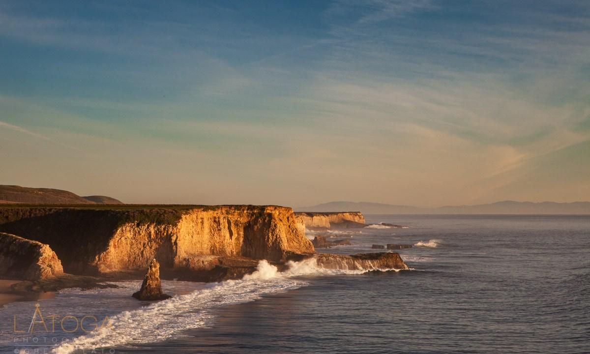 Sunset Upon Davenport Beach, California