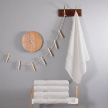700 GSM White Bamboo Hand Towel