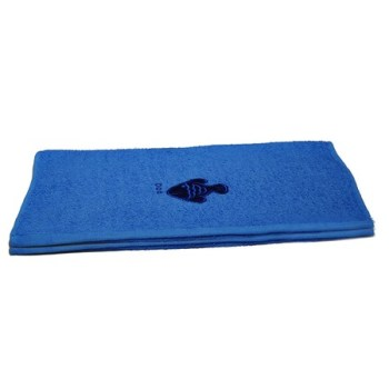 Fish Embroidered Blue Bath Sheets – Value Range