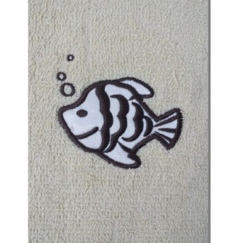 Fish Embroidered Yellow Bath Towels – Value Range