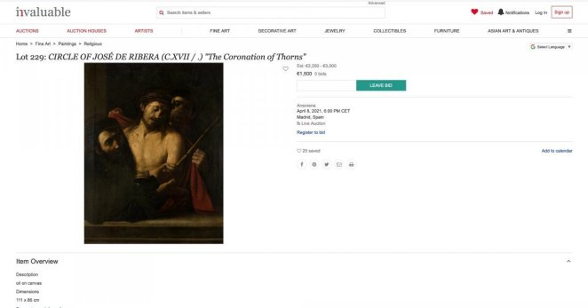 Un Ecce Homo attribué à Caravage retrouvé en Espagne