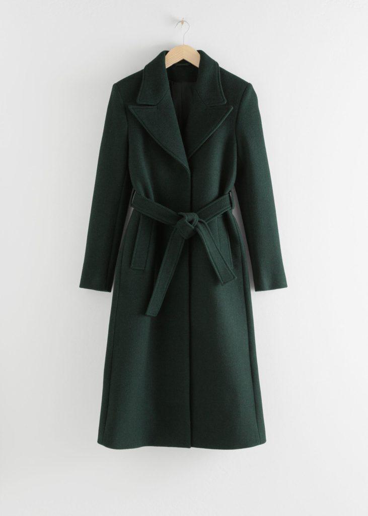 Abrigo lana verde & Other Stories