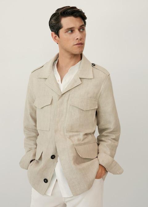 moda masculina chaqueta lino
