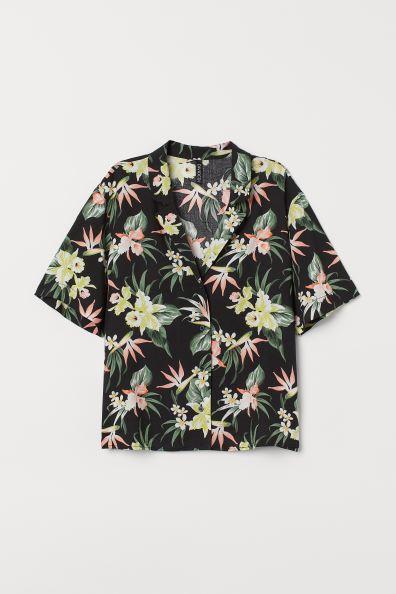 Camisa flores H&M