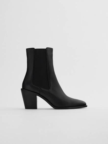 los botines negros de zara cowboy