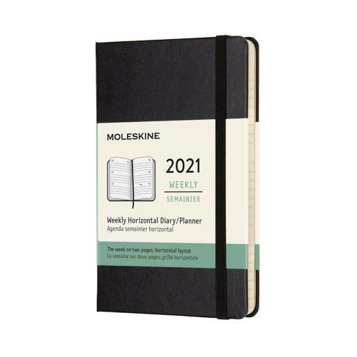 Agenda negra pocket Moleskine 2021