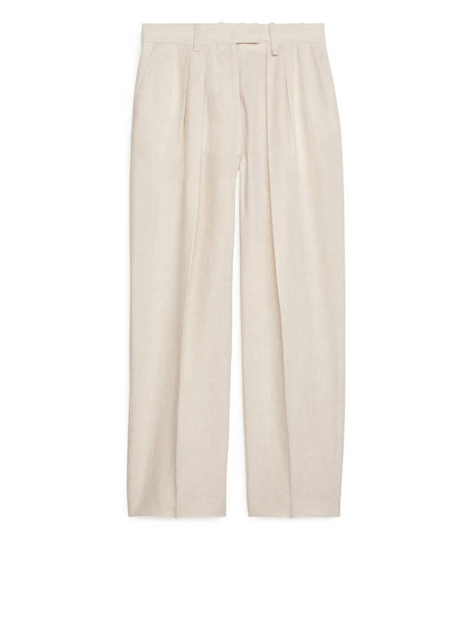 pantalones de pinzas de tiro alto de arket