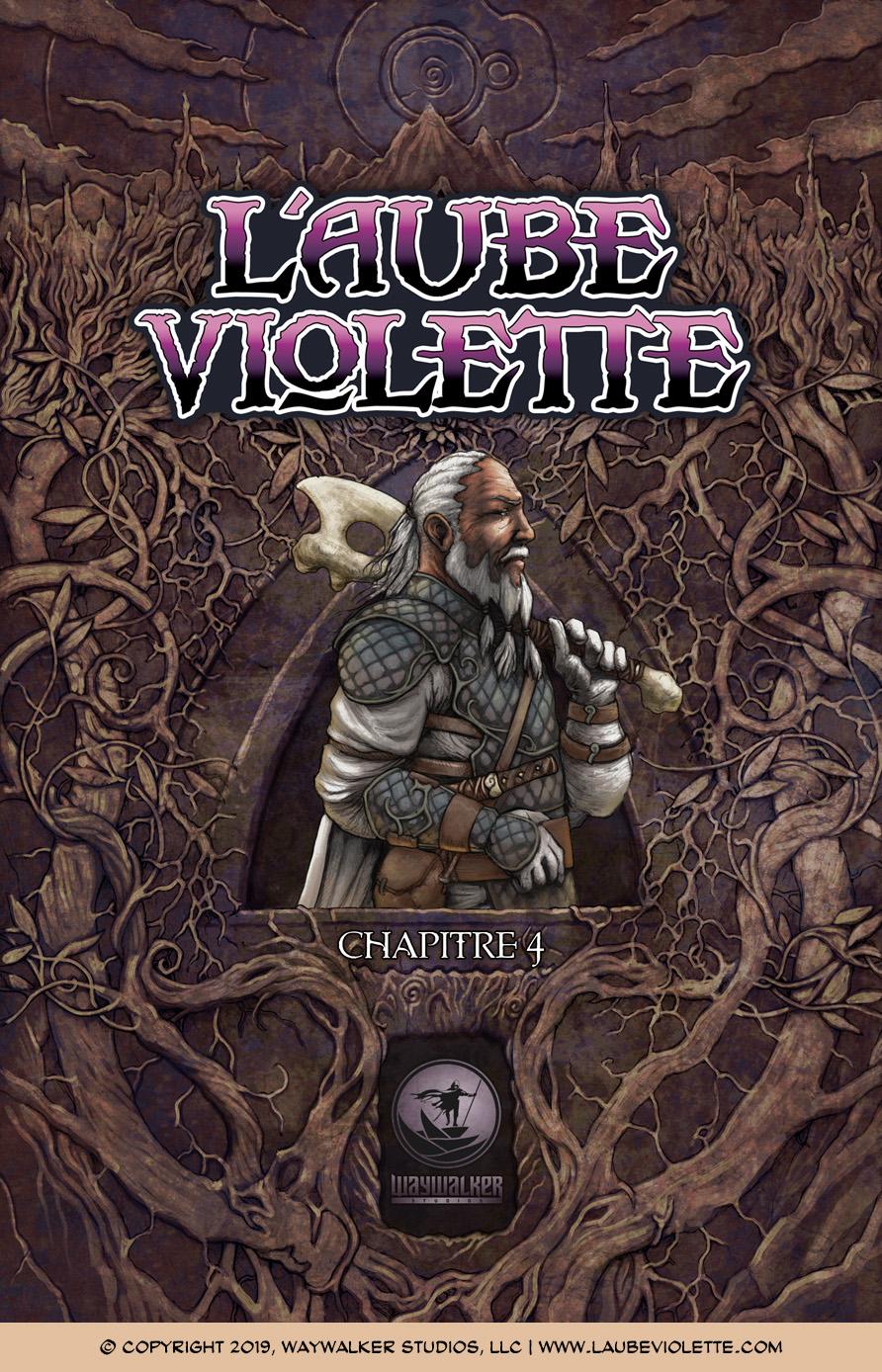 L'Aube Violette L'Exil: Couverture du Tome 4